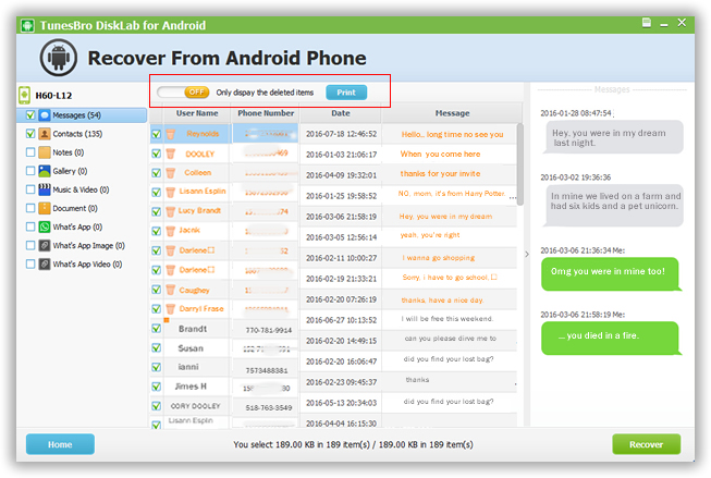 How To Recover Deleted Messages From Android Phone Tunesbro