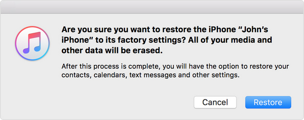 restore iphone as new