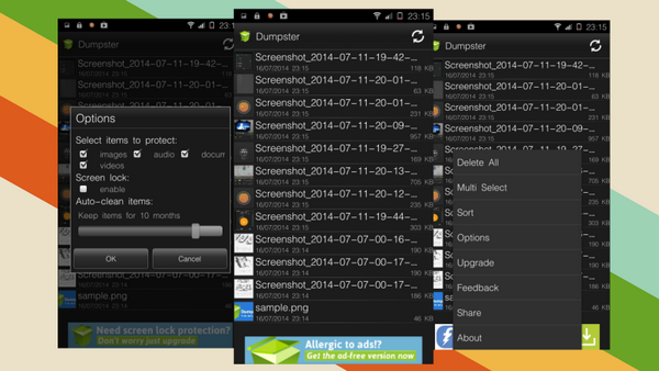dumpster android recovery