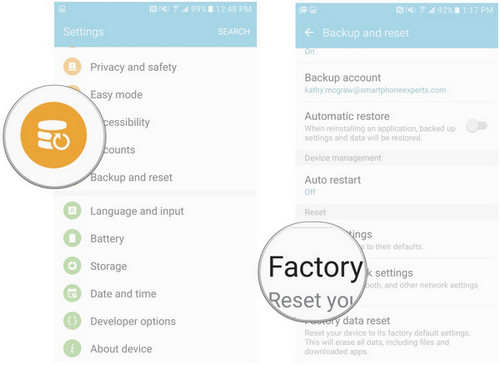 How to Factory Reset and Wipe Samsung Galaxy Phone for Sell