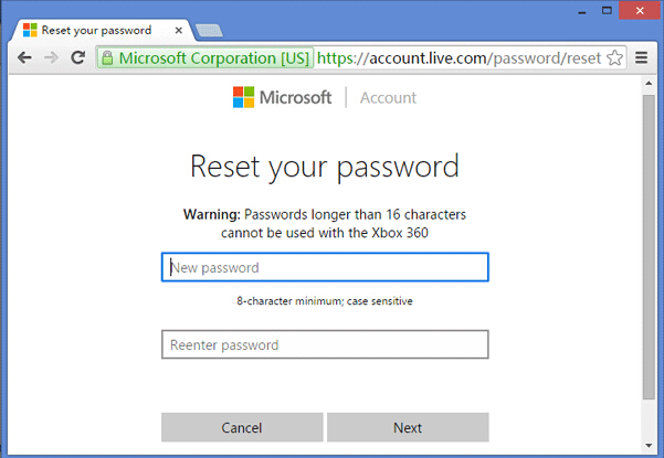 windows 10 password reset usb